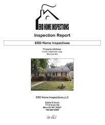 termite inspection report sample services erd home inspections we d love to take care of your next home inspection and invite you to contact us today