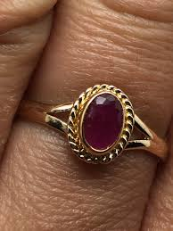 ruby stone rings images Gold plated ring with ruby stonevintage lookdelicate jpg