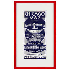 Chicago Neighborhood Map Poster by Inspiration Gallery U2014 Artists Frame Service