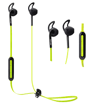 bitmore bluetooth wireless sports headphones green color