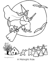 witch halloween coloring pages funycoloring