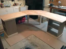 Custom Corner Desks Custom Corner Desk With Drawers Pullout Keyboard And Shelves
