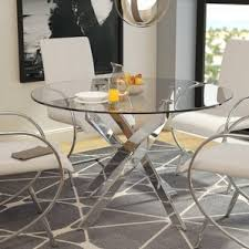 Silver Dining Table And Chairs Modern Silver Dining Kitchen Tables Allmodern