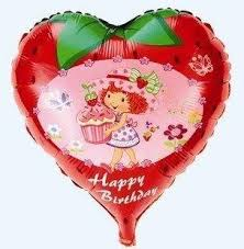 50 balloons delivered strawberry girl helium balloons kids birthday party supply