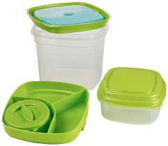 amazon com fit u0026 fresh salad u0026 side lunch kit with removable ice