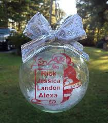 personalized christmas floating ornament with by designedbykandj