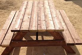 How To Build A Wooden Picnic Table by How To Build An Sized Picnic Table Kaboom