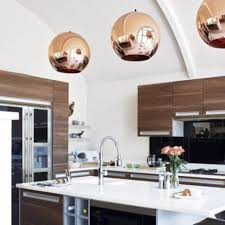gorgeous copper pendant lights kitchen in interior decorating