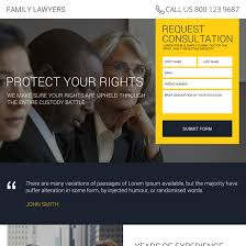 attorney and law landing page design templates for your personal