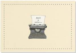 typewriter note cards stationery blank note cards pauper press