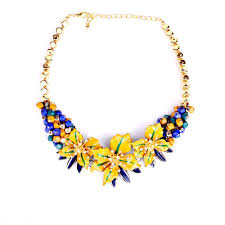 fine necklace images Wholesale big brand fine jewelry yellow flower necklace za chunky jpg