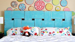 decor inspiration woven wood headboard make