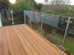 wooden deck with glass balustrade balcony pinterest glass