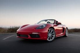 red porsche boxster 2017 2017 porsche 718 boxster our review cars com
