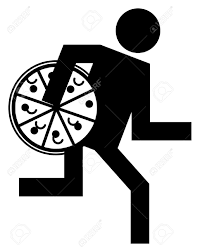 dinner silhouette 14459536 pizza delivery man abstract icon stock vector u2013 pix pizza