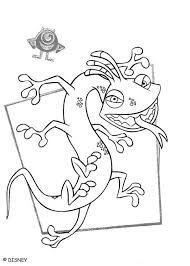 monsters color disney coloring pages color plate