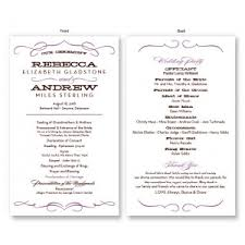 wedding bulletins exles wedding programs stationery the american wedding