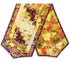 Fall Table Runners by Rjr Metallic Gold Fall Pre Cut Log Cabin Table Runner Kit Autumn