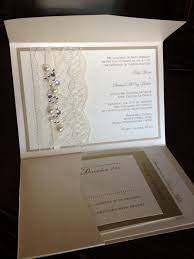 Invitation With Rsvp Card Sample Lace And Rhinestone Wedding Invitation Rsvp Card Lodging