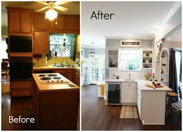 Budget Kitchen Makeovers Before And After - kitchen kitchen before and after kitchen door makeovers on a