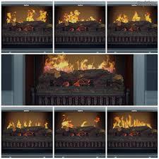 chronus high gloss black media center electric fireplace wall
