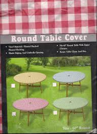 Tablecloth For Patio Table With Umbrella by 28 Round Patio Tablecloth With Umbrella Hole Amazon Com