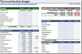 Excel Spreadsheet Household Budget Household Budget Worksheet Excel Template