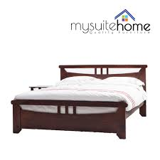 nadia solid pine timber king single double queen size bed frame
