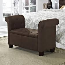 furniture brown leather tufted bench on cozy lowes rugs and
