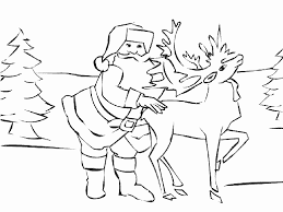 coloring page christmas reindeer coloring pages 10