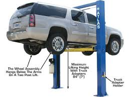 atlas oh 10x overhead 10 000 lbs capacity 2 post car lift extra