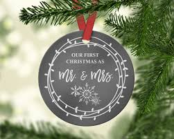 our as mr and mrs ornament ornaments