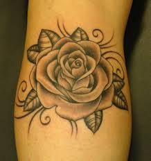 black and grey rose tattoos rose flaming heart tattoos and