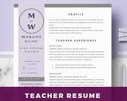 Teacher Resume Templates Microsoft Word 2007 Professional Resume Templates For Ms Word By Hireddesignstudio