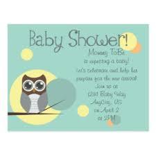 Owl Baby Shower Boy - owl baby shower postcards zazzle