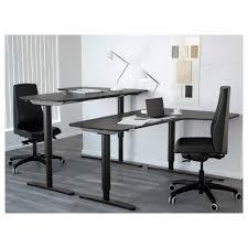 Corner Desk Bekant Corner Desk Right Sit Stand Black Brown Black Ikea