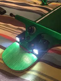 electric skateboard led lights work in progress the juggernaut bittblock 6378 motors dual