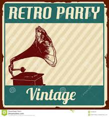 retro cocktail party vintage retro party poster stock vector image 40938339