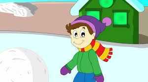 wintertime educative cartoon about winter for children winter