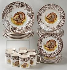 spode woodland 32 set classic turkey design at replacements