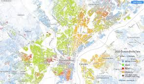 map of philly racial dot map of philadelphia each dot represents one person