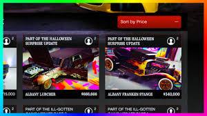 the halloween city gta 5 u0027halloween u0027 dlc update vehicle prices city blackout new
