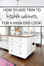 adding trim to cabinets coffee table kitchen chronicles vol adding trim the cabinets img