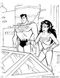 superman wonderwoman coloring pagea794 coloring pages printable