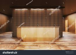 Black Reception Desk Front View Modern Black Reception Desk Stock Illustration