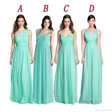 2016 chiffon beach bridesmaid dresses mint green vestidos de