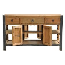 kosas home willow reclaimed wood and iron 60 inch kitchen island