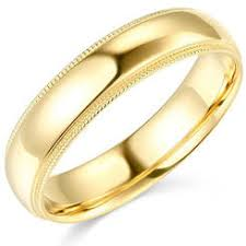 gold wedding band mens wedding rings outlet mens 5mm 14k yellow gold comfort fit milgrain