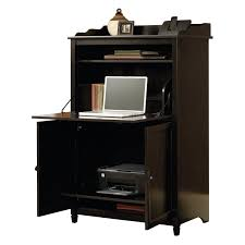 sauder edge water smartcenter secretary desk estate black hayneedle