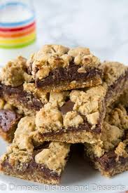 Oatmeal Bars With Chocolate Topping Oatmeal Fudge Bars Dinners Dishes And Desserts
